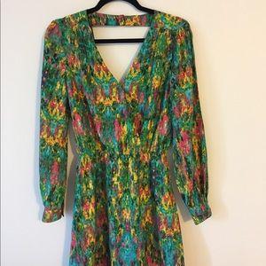 Parker long sleeve dress silk dres